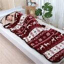 あったか 毛布 寝袋 ブランケット シープ調 ノルディック柄 78cm×210cm