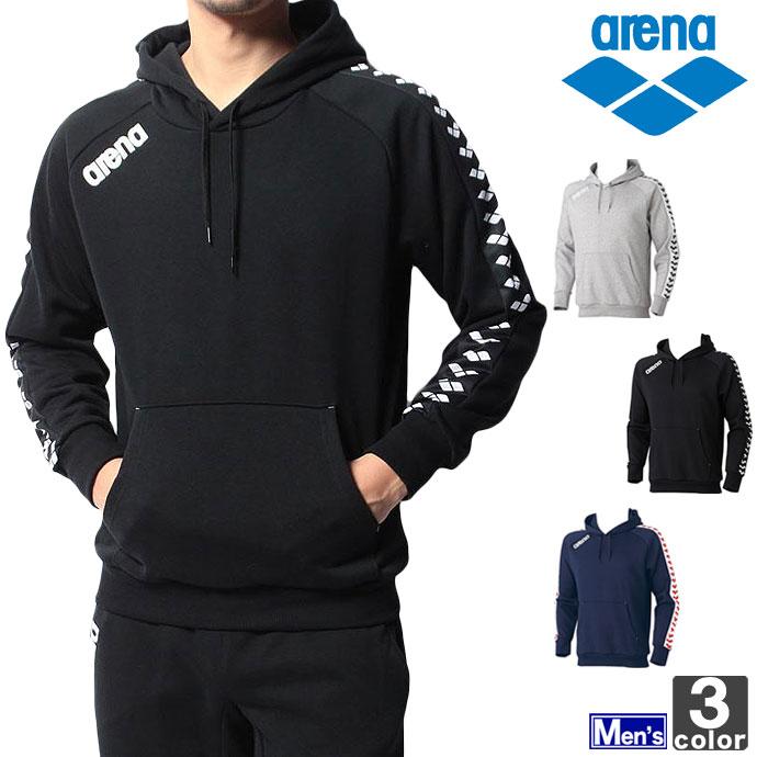 アリーナ【arena】メンズ スウェット パーカー ARN-5300 1501 スエット スウエット スェット 水泳 スポーツ 運動 フーディー プールサイド ウェア 紳士