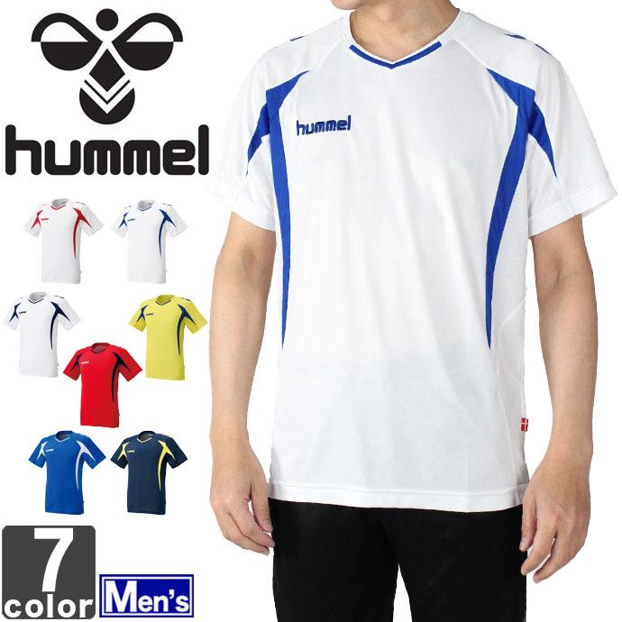 ヒュンメル【hummel】メンズ プラクティス シャツ HAP1124 1603 トップス ウェア 半袖 スポーツ 練習 運動 ランニング サッカー フットサル 男性 紳士