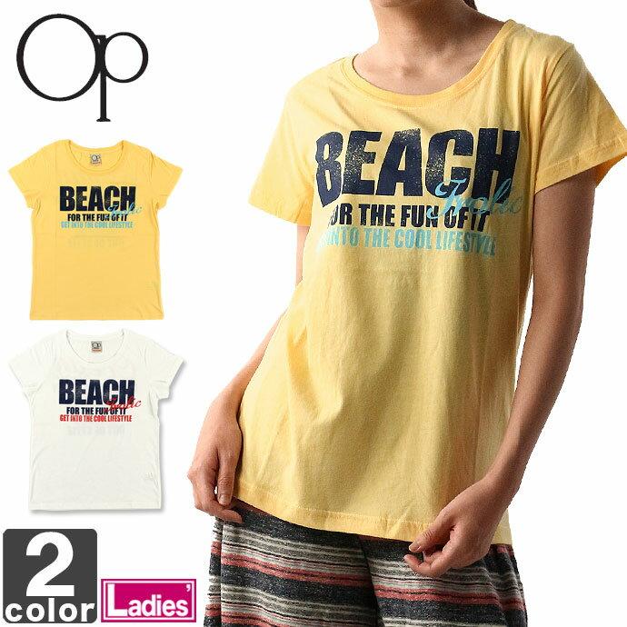 オーシャンパシフィック【Ocean Pacific】レディース Tシャツ 524548 1708 ウェア トップス 服 半袖 フィットネス ジム ランニング レジャー 旅行 キャンプ ウィメンズ 婦人