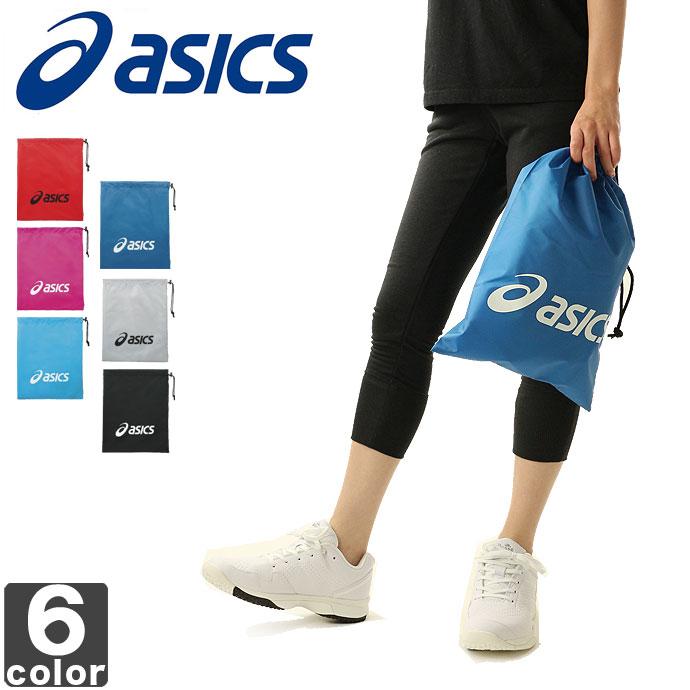■asicsの巾着式バッグ! シューズバッグ
