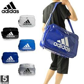 アディダス【adidas】 エナメル バッグ L ETX13 1809 バッグ 部活 鞄 スポーツ ジム クラブ 旅行 ケース 収納 エナメル ショルダーバッグ