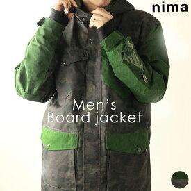 ボードジャケット ニーマ nima メンズ NB-1001 スノーボードジャケット 1910 スノーボード ウインター スポーツ トップス ウェア フード 防寒 雪山 ゲレンデ スノボ アウター