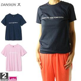 半袖Tシャツ ダンスキン DANSKIN レディース DB78319 Tシャツ 1910 トップス 半袖 スポーツウェア ワークアウトTシャツ プリントTシャツ ゆうパケット対応