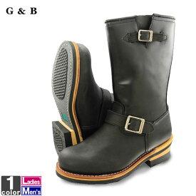 ブーツ ゴッドアンドブレス GOD&BLESS メンズ レディース GB-9810A エンジニアブーツ 2001 ロング丈 ロングブーツ ワークブーツ 大きいサイズ G&B ブーティ