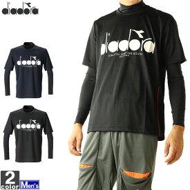 テニスウェア ディアドラ DIADORA メンズ DTP9520 インナーセット 2010 Tシャツ テニス バドミントン トップス ウェア セットアップ 長袖インナー 半袖Tシャツ 2点セット ゆうパケット対応