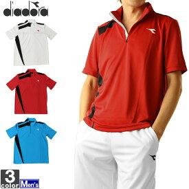テニスウェア ディアドラ DIADORA メンズ DOS7336A ゲームシャツ 2011 テニス バドミントン トップス ウェア 吸汗 速乾 UVカット 半袖Tシャツ ゆうパケット対応