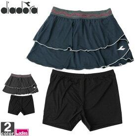 テニスウェア ディアドラ DIADORA レディース DTG9425 スコート 2011 セット ショーパン 短パン ミニスカート セパレート テニス スカート ショートパンツ ゆうパケット対応