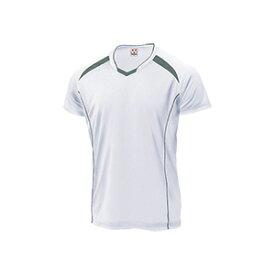 WUNDOU (ウンドウ) バレーボールシャツ ホワイト×ダークグレー P-1610 1710 メンズ 紳士 男性 バレーボール ウェア
