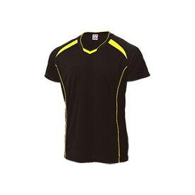 WUNDOU (ウンドウ) バレーボールシャツ ブラック×イエロー P-1610 1710 メンズ 紳士 男性 バレーボール ウェア