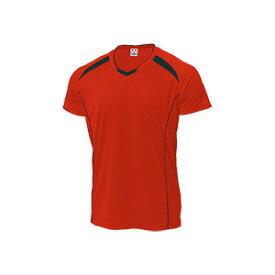 WUNDOU (ウンドウ) バレーボールシャツ レッド×ブラック P-1610 1710 メンズ 紳士 男性 バレーボール ウェア