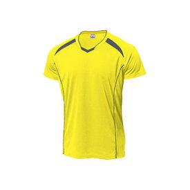 WUNDOU (ウンドウ) バレーボールシャツ イエロー×ダークグレー P-1610 1710 メンズ 紳士 男性 バレーボール ウェア