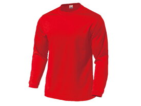 WUNDOU (ウンドウ) ドライライト長袖Tシャツ レッド P-350 1710 メンズ 紳士 男性 オールスポーツ ウェア