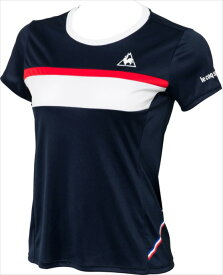 le coq sportif (ルコック スポルティフ) 半袖シャツ NVY QTWLJA32ZZ 1802 レディース ウィメンズ 婦人 テニス Tシャツ