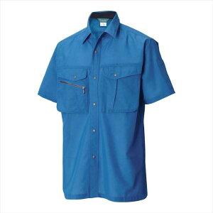 TS DESIGN (TSデザイン) 半袖シャツ ブルー 7155 2002 作業服 ユニフォーム TOP SHALETON