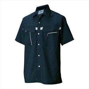 TS DESIGN (TSデザイン) 半袖シャツ ネイビー 7655 2002 作業服 ユニフォーム TOP SHALETON