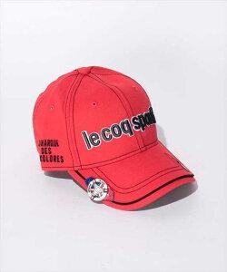 Le coq sportif GOLF メンズ コットンツイルクリップマーカー付きキャップ QG0264 R459 2008 ゴルフ ウェア ルコックゴルフ メンズ