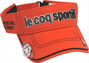 Le coq sportif GOLF メンズ コットンツイルクリップマーカー付きバイザー QG0265 R459 2008 ゴルフ ウェア ルコックゴルフ メンズ