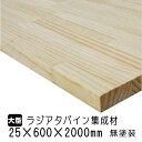 集成材 ラジアタパイン(松) 25×600×2000mm(A品)