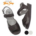 ボンステップ Bon Step サンダル 6204 3E 幅広 レザー メッシュ コンフォートシューズ レディース 靴