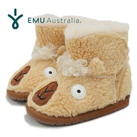 EMU エミュー ベビー ムートンブーツ BABY Llama Walker B12341 ラマ モチーフ ショートブーツ ファー ボア 女の子 男の子 キッズ 子供用 靴 EMU Australia 【あす楽対応】【送料無料】