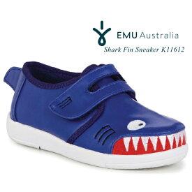【日本正規品】emu エミュ エミュー キッズ スニーカー サメ Shark Fin Sneaker K11612 ベルクロ フラットシューズ 子供靴 女の子 男の子【あす楽対応】【送料無料】