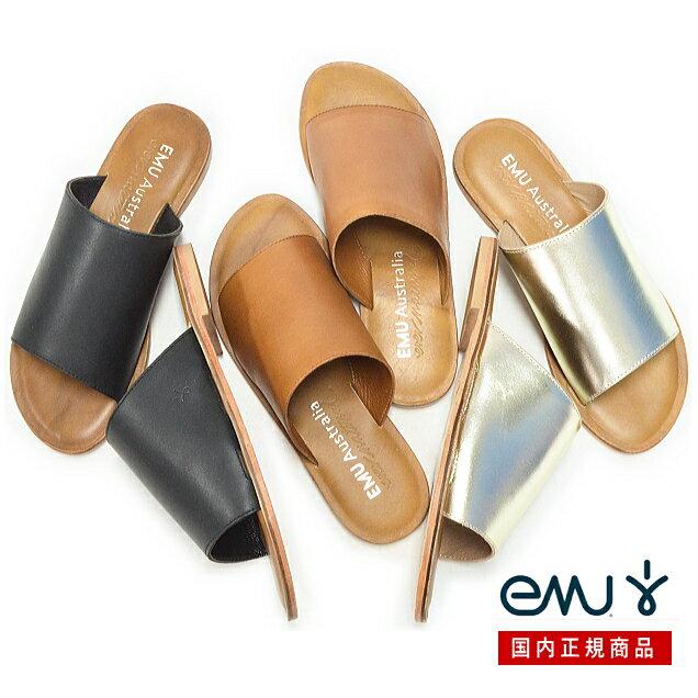 【SALE】【日本正規品】emu エミュ フラットサンダル MOLLY W11858 日本別注モデル エミュー レディース 靴 ペタンコ エスニックサンダル サンダル レザー【送料無料】【あす楽対応】