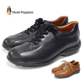 【15%OFFクーポン利用可能!】ハッシュパピー Hush Puppies M-7027 メンズ 靴 レザー スニーカー 軽量 日本製 定番 レースアップシューズ 幅3E