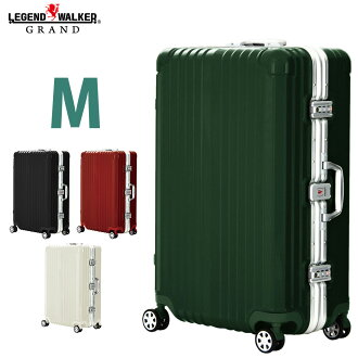 Suitcase double caster wheels 8 m 5 nights 6 nights 7 nights wide frame OKOBAN carry case carrying bag LEGEND WALKER GRAND luxury legend Walker Gran 5601-64
