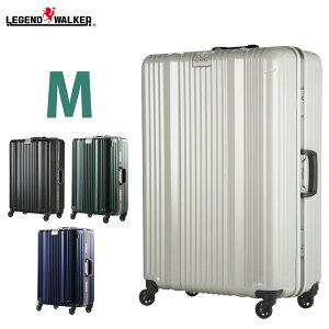 【名前入れ無料!】スーツケース キャリーバッグ キャリーケース メーカー1年修理保証 LEGEND WALKER レジェンドウォーカー 超軽量 〜5日 6日 7日 中型 M サイズ W-6026-64