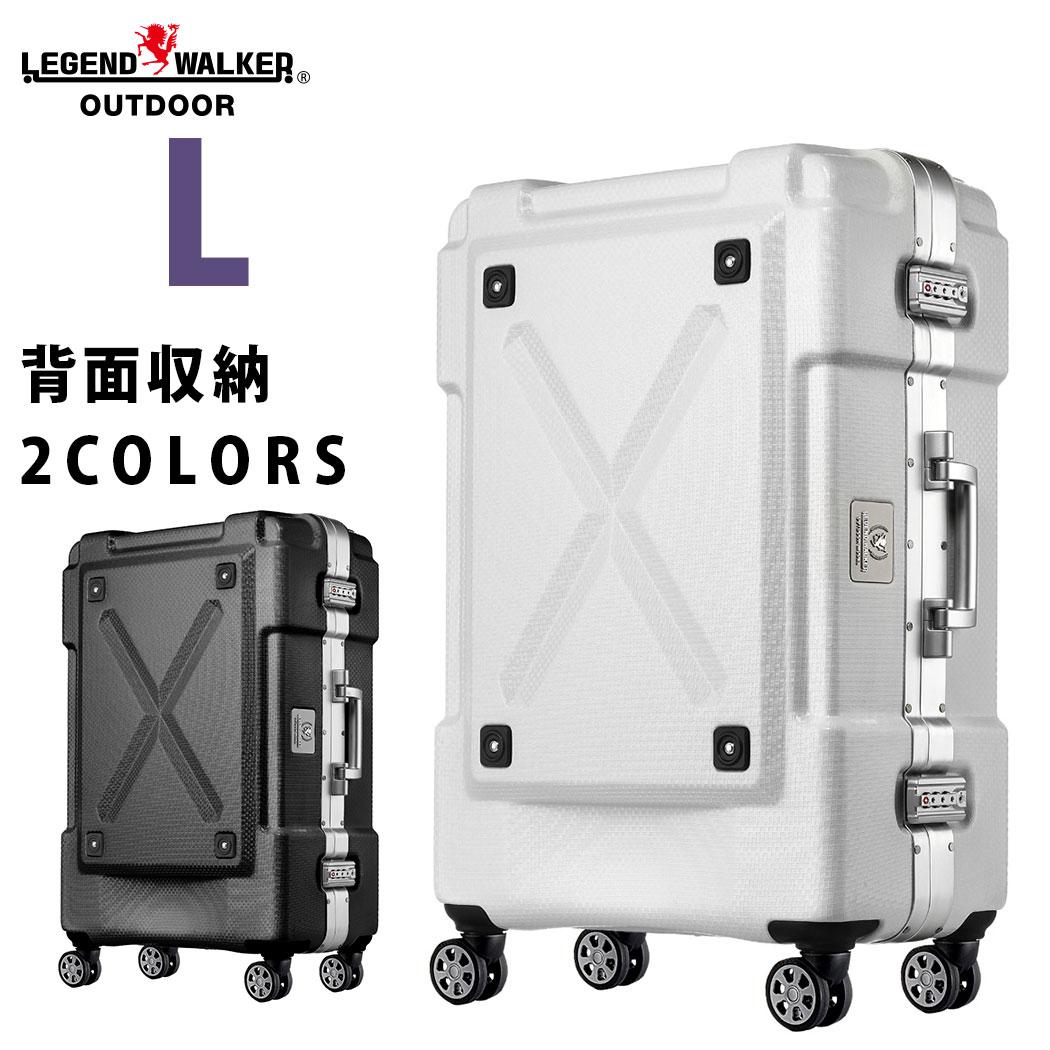 【3月22日1:59までポイント5倍】スーツケース L サイズ 超軽量 PC100%素材 フレーム ダブルキャスター キャリーバッグ 旅行用かばん 大型 新作 7日 8日 9日 アウトドア シボ加工『6303-69』【superdeal】