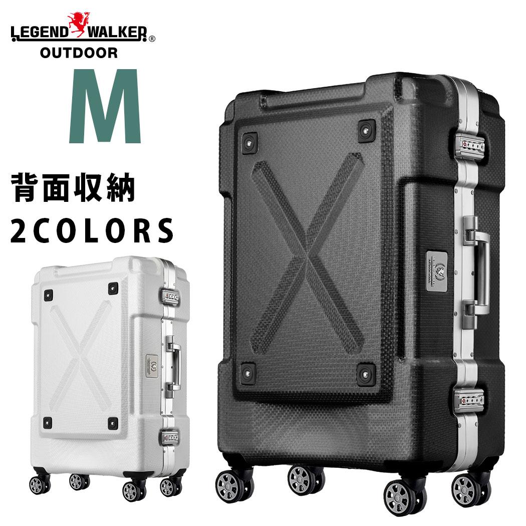 【3月22日1:59までポイント5倍】スーツケース M サイズ 超軽量 PC100%素材 フレーム ダブルキャスター キャリーバッグ 旅行用かばん 中型 新作 5日 6日 7日 アウトドア シボ加工『6303-62』【superdeal】