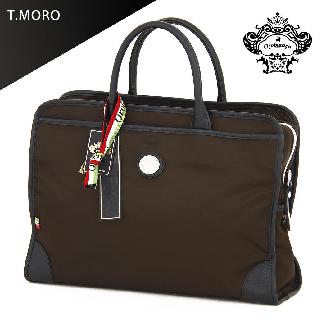 【11月29日1:59までポイント10倍】ブリーフケース ショルダーバッグ バッグ ビジネス 鞄 旅行かばん 2way 出張 B4サイズ対応 OROBIANCO オロビアンコ RUFUS T-C MADE IN ITALY 送料無料 『orobianco-90004』