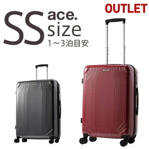 【20%OFF】アウトレット スーツケース ACE エース キャリーケース キャリーバッグ 送料無料 SSサイズ 機内持ち込み ハードキャリー 小型 TSAロック B-AE-06611