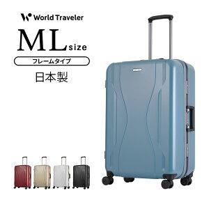 スーツケース 機内持込 MLサイズ キャリーケース キャリーバッグ ワールドトラベラー World Traveler KOVALAM コヴァーラム 5泊 6泊 7泊 フレームタイプ ハードケース TSAダイヤル式ロック あす楽