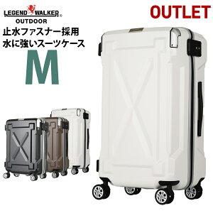 【クーポン発行】アウトレット スーツケース キャリーケース キャリーバッグ M サイズ 超軽量 PC100%素材 フレーム 旅行用かばん 中型 5日 6日 7日 防水 安い 無料受託手荷物  158cm 以内 レジェ
