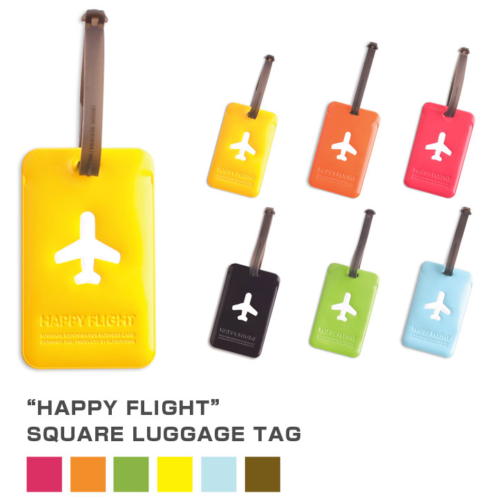 ALIFE アリフ スーツケースタグ ラゲージタグ スクエアラゲージタグ ラゲージネームタグ SNCF-043【旅行 トラベル用品 トラベルアイテム】 カラフルな6色 square luggage tag