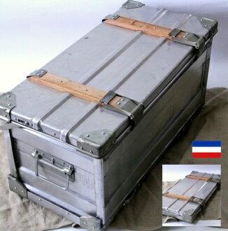 南斯拉夫軍隊折疊容器盒鋁存儲箱框 / 軍隊