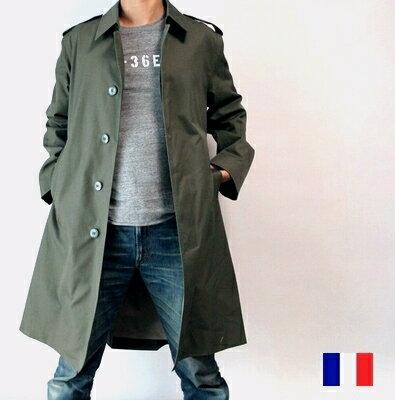 フランス軍 防水 ステンカラー コート / デッドストック 新品 / ミリタリー ジャケット トレンチ 軍