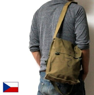 Czech Army bread shoulder bag small / canvas / brand new deadstock / military forces (town outdoors and disaster prevention)