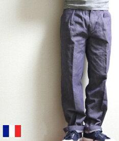 フランス デニム ユーズド パンツ 80年代 【中古】 フランス軍 メンズ ワークパンツ / ミリタリー / ヴィンテージ / pd