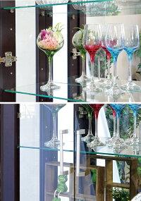 コレクションボード木目調幅62cm高さ160cm家具調キャビネットコレクションケースガラスショーケースガラスキャビネット扉強化ガラス全4色ブラウンブラックホワイトナチュラル