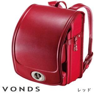 ランドセル ララちゃんランドセル 2021年度 VONDS マジかるベルト付き 6年間修理保証 ポケット取り外し可能 筆箱専用ポケット付き 取り換えポケット付き フロントロック レッド 赤 ツートンカ