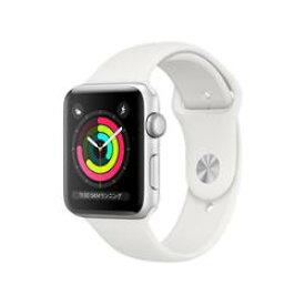 【新品/在庫あり】Apple Watch Series 3 GPSモデル 42mm MTF22J/A ホワイトスポーツバンド