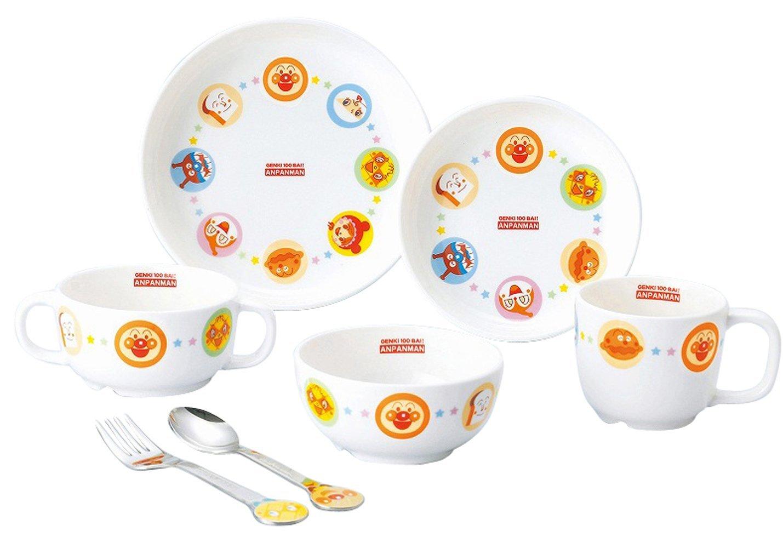 【新品/在庫あり】金正陶器 子供用食器 アンパンマン 強化磁器ギフトセット 152751 茶碗 皿 マグ スプーン フォーク
