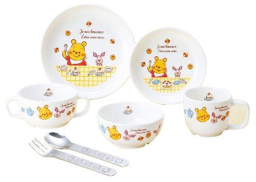 【新品/在庫あり】金正陶器 子供用食器 くまのプーさん 強化磁器食器セット 7点セット 806751 茶碗 皿 マグ スプーン フォーク