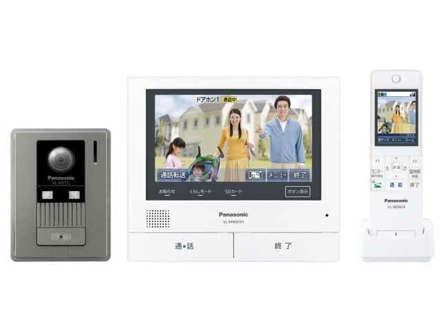 【新品/取寄品】パナソニック ワイヤレスモニター付きテレビドアホン3-7タイプ どこでもドアホン VL-SWD701KL
