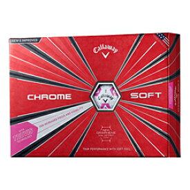 【新品/在庫あり】CHROME SOFT TRUVIS シェブ ボール 2018年モデル [ホワイト/ピンク]