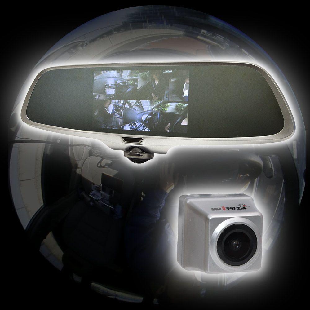 【新品/取寄品/代引不可】ミラー型360度全方位ドライブレコーダー リアカメラ付き CDVR36RC