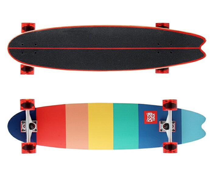 【新品/取寄品】DUB STACK (ダブスタック) ロングスケートボード LSB238-ML マルチカラー 【北海道・沖縄・離島配送不可】
